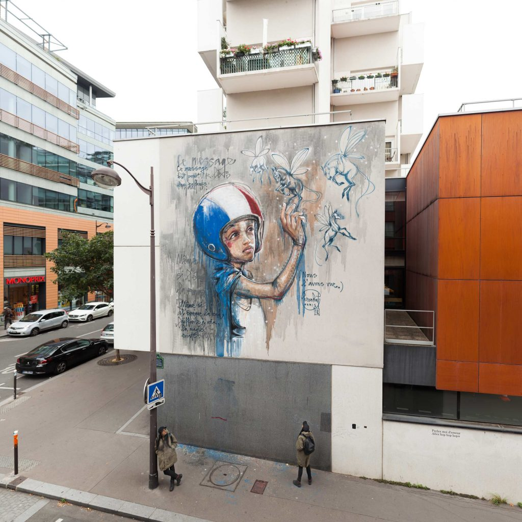 """Message For The Children"" by Herakut in Paris, France"
