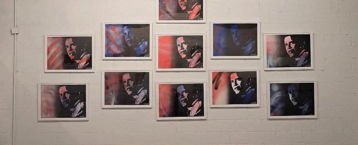 Coverage: The Presidency of Barack Obama A Group Show Feat. Blek Le Rat, Nick Walker, Pure Evil, The London Police, & More