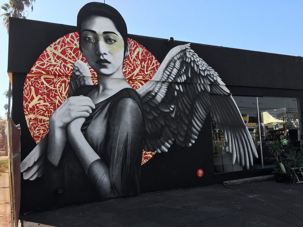 """Resurrection of Angels"" by Fin DAC in Los Angeles"