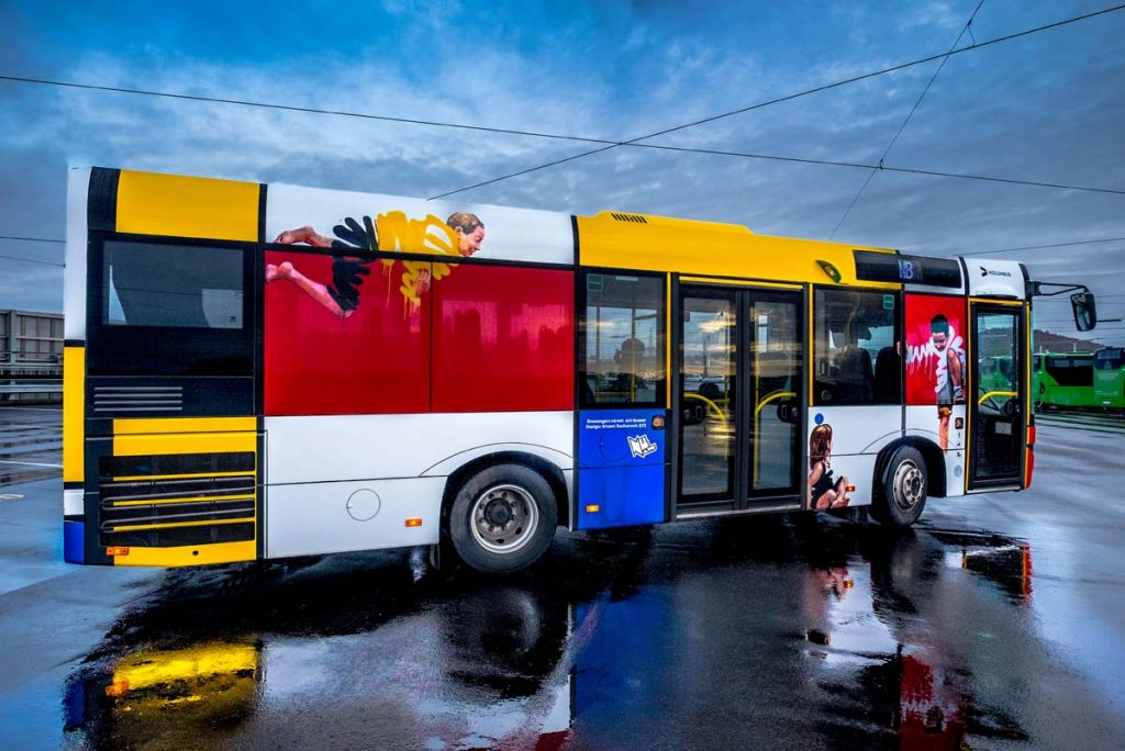 Street Art Buses in Stavanger, Norway