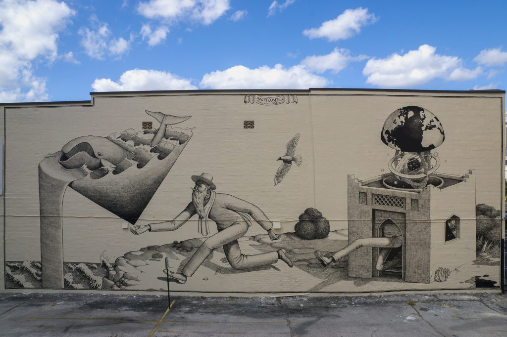 Waone Interesni Kazki's mural for Art(Re)Public Festival