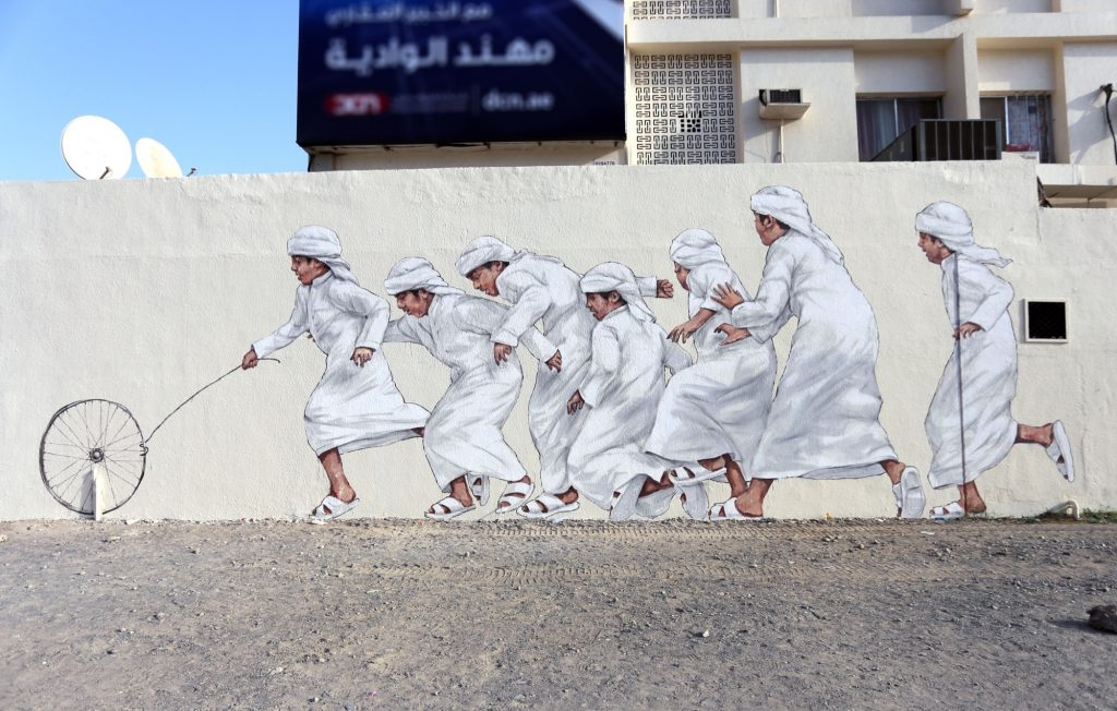 Ernest Zacharevic for Dubai Street Museum in UAE
