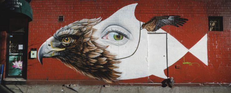 """Strange Bird"" by Lonac in NYC"