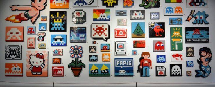 "Coverage: Invader ""Hello My Game is…""  @ Musee en Herbe in Paris"