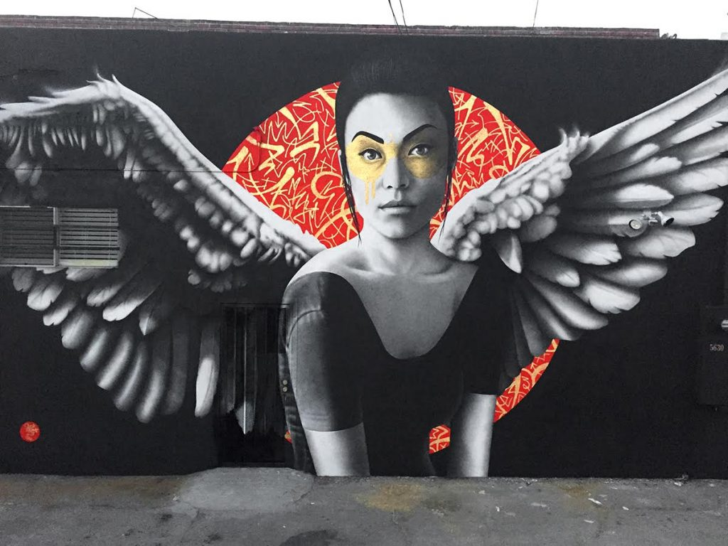 """Resurrection of Angels Part 2"" by Fin DAC in Los Angeles"
