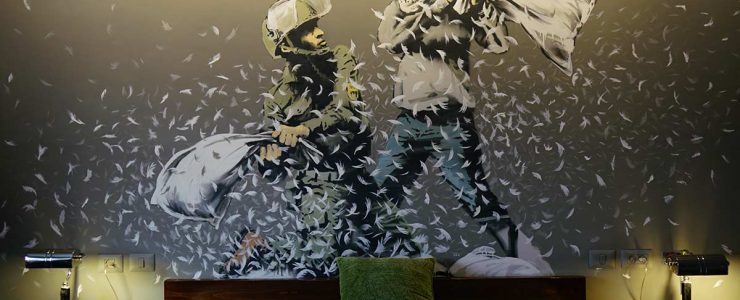 "Banksy opens ""The Walled Off Hotel"" in Bethlehem"