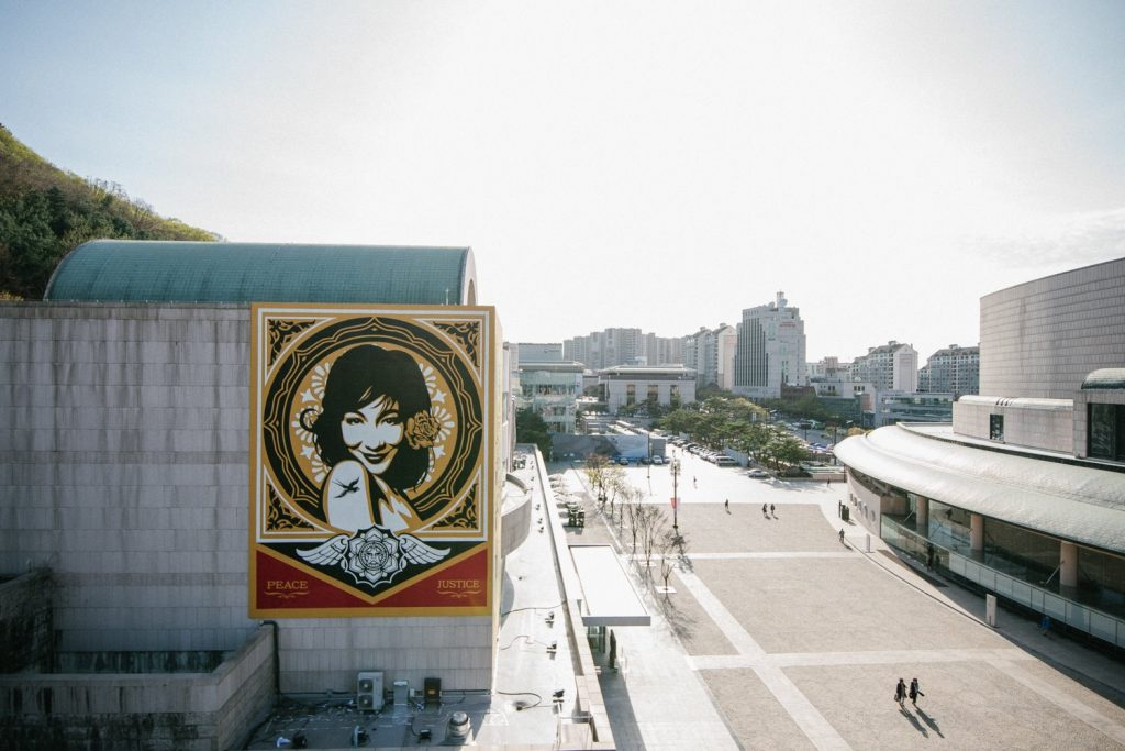 """Peace & Justice"" By Shepard Fairey In Seoul, South Korea"