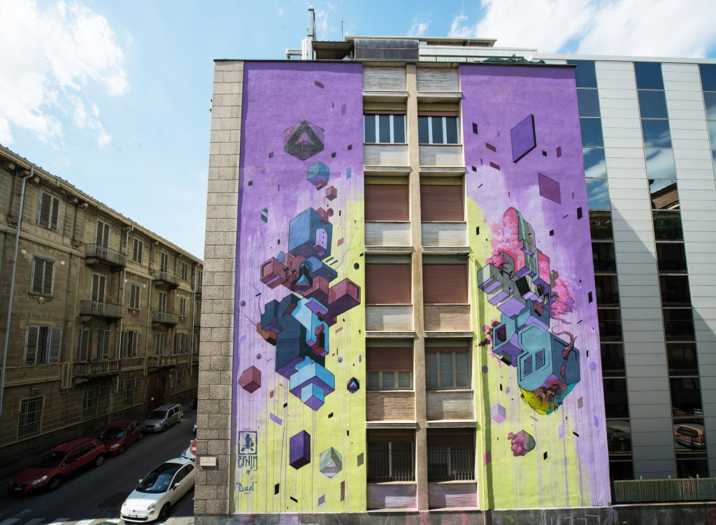 """DUEL"" by Etnik in Turin, Italy"