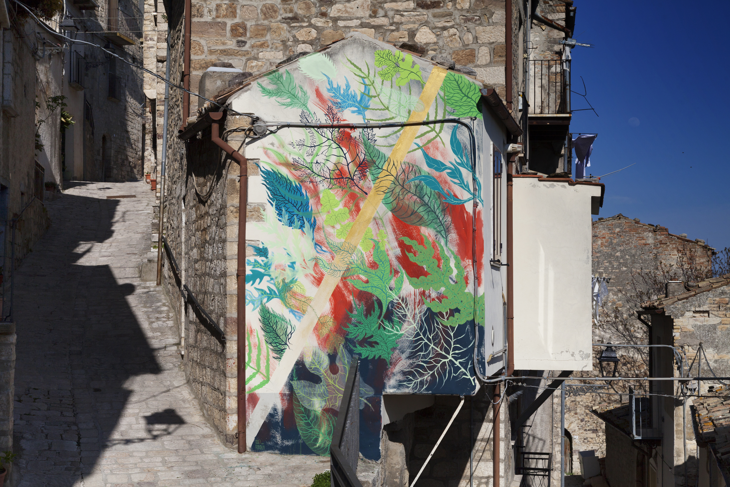 Murals in medieval town of civitacampomarano italy by gola hundun recently gola hundun visited civitacampomarano almost abandoned town in the heart of molise region in italy to paint countless murals all over it amipublicfo Image collections