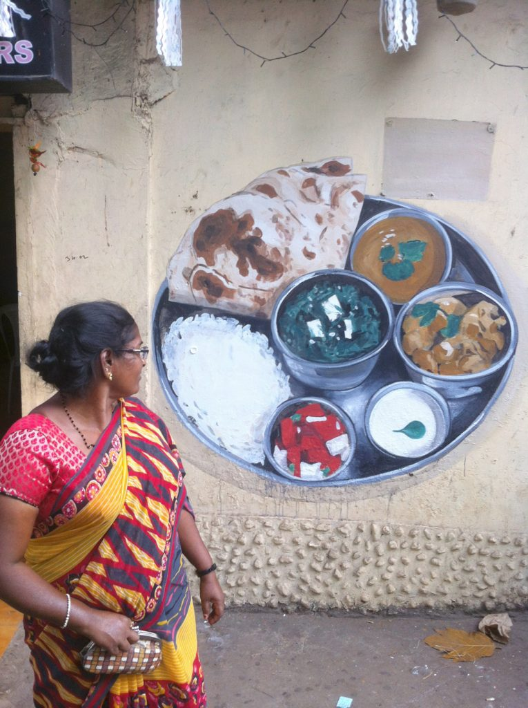 """Free Painting"" by Escif in Panjim, India"