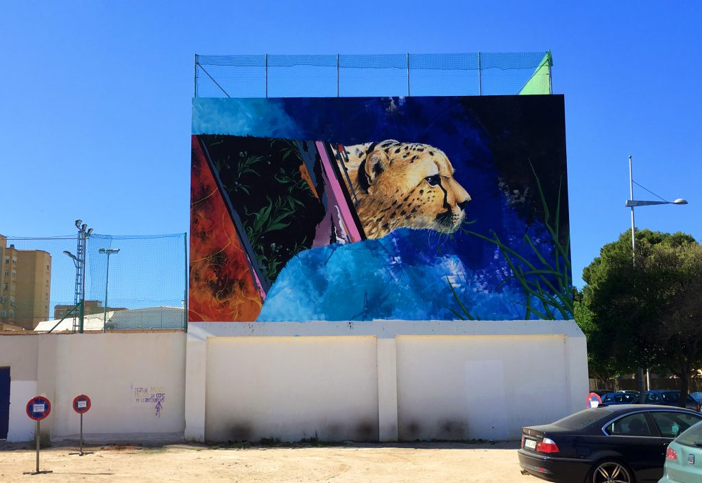 Kraser Tres for One Urban World festival in Cartagena, Spain
