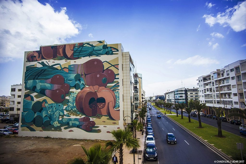 New Murals For Jidar-Toiles De Rue Festival in Rabat, Morocco
