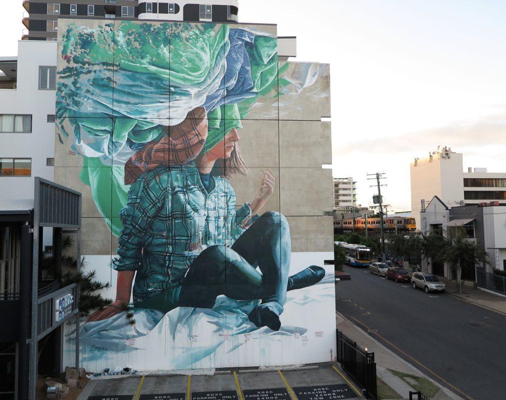 """Head in the clouds"" by Fintan Magee in Brisbane, Australia"