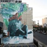 """Head in the clouds"" by Fintan Magee in Brisbane, Australia"