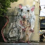 """Lab Rat"" by Bordalo II in Paris"
