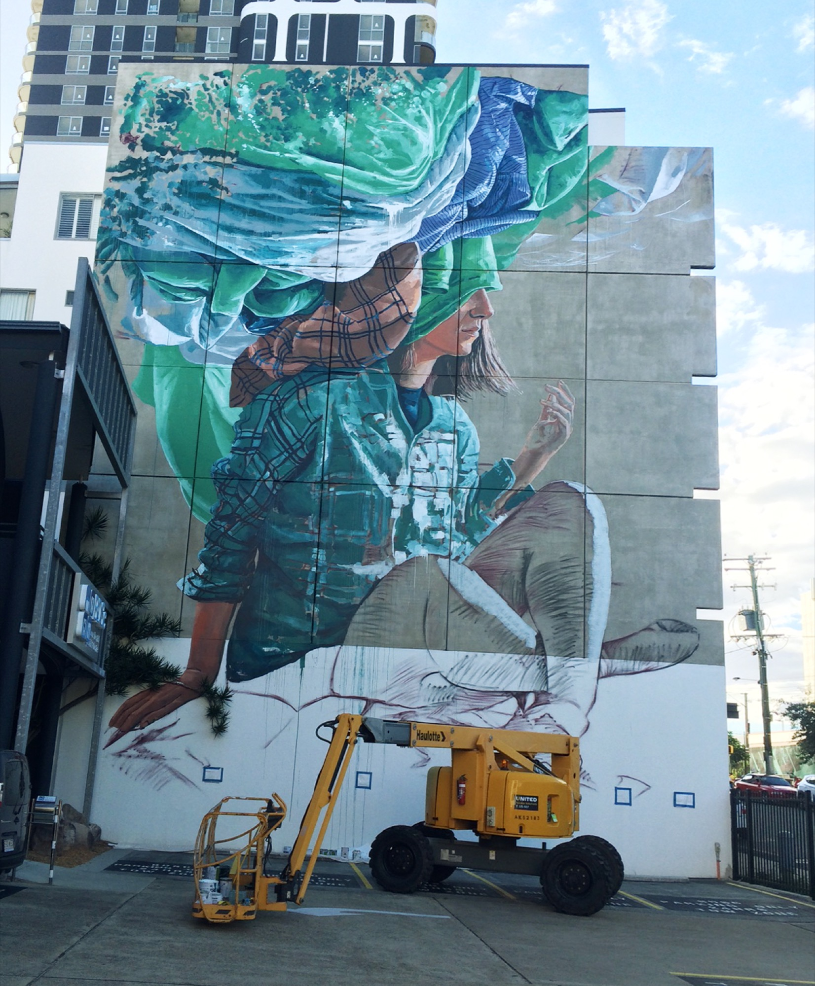 Head in the clouds by fintan magee in brisbane for Australian mural