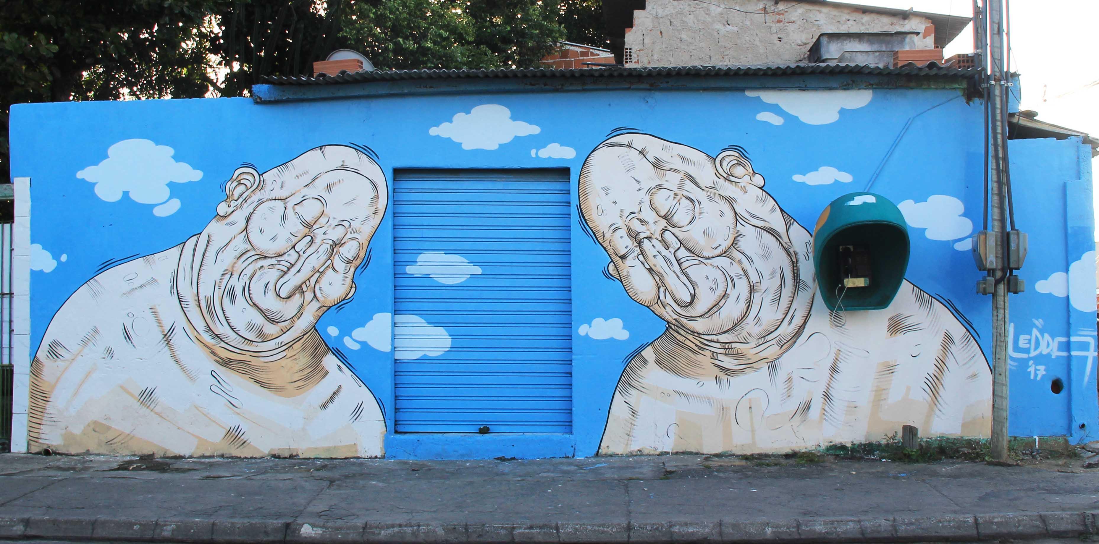 Luca Ledda creates two murals in the city of Vitoria (Espirito Santo), Brazil