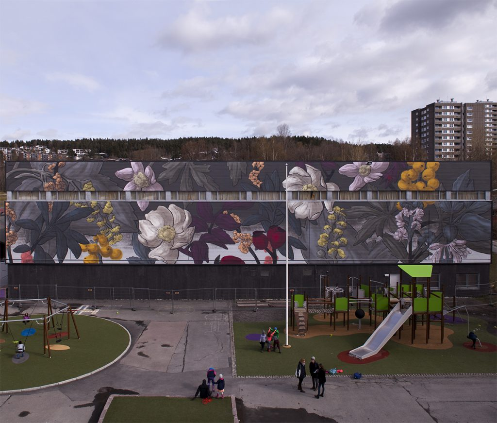 Pastel unveils a new mural in Oslo, Norway