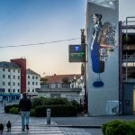 """The Last Traveler"" by NIMI in Stavanger, Norway"