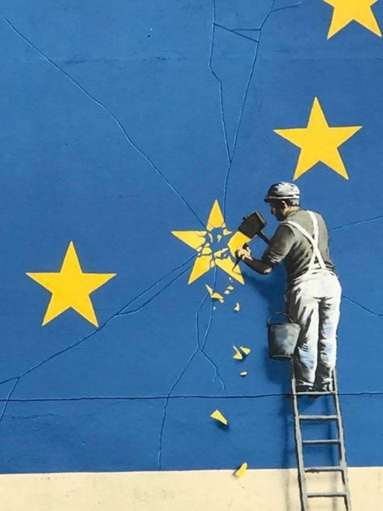Banksy and the European Union in Dover, England