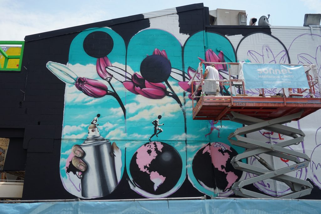 Mural 2017: Work in progress by INSA in Montreal