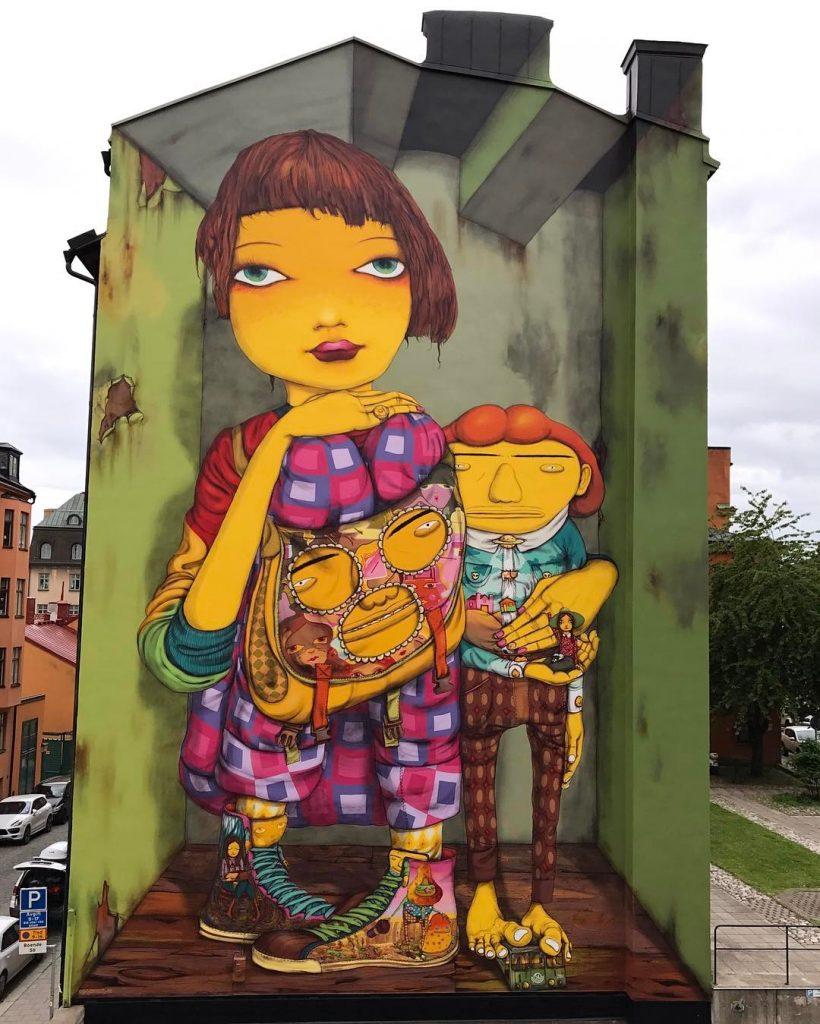 Os Gemeos in Stockholm, Sweden