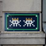 Second wave of invasion by Invader in Versailles, France