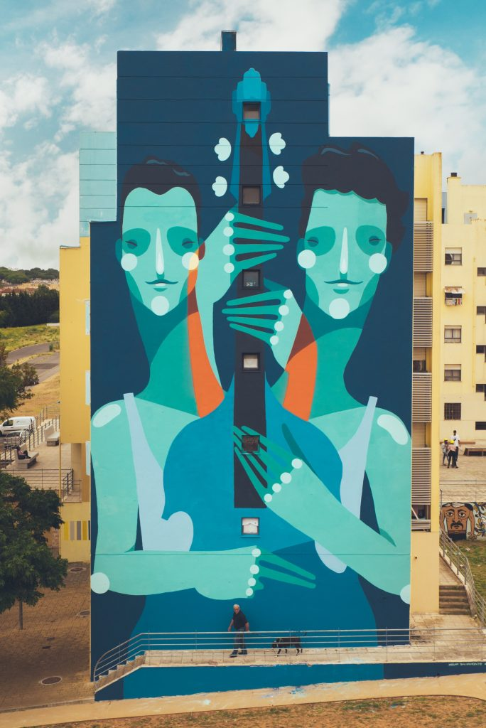 """Double Double Bass"" by Zësar Bahamonte in Lisbon, Portugal"