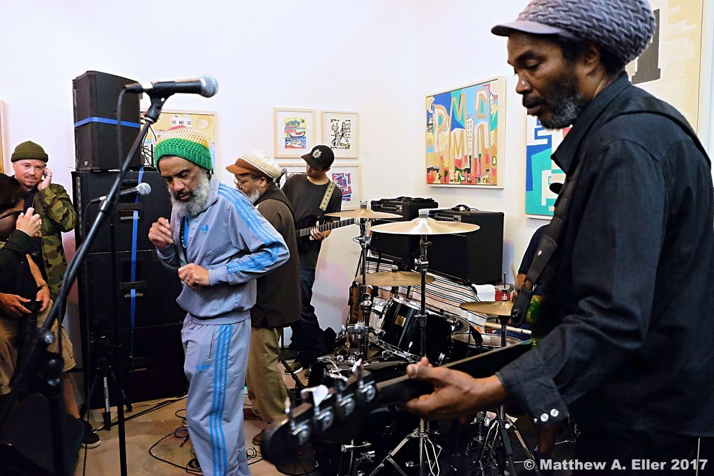 Coverage: Mind ⚡Power by Darryl Jenifer of Bad Brains Feat.  Shepard Fairey,  Lucian Perkins, John Mousheghian, & Craig Wetherby, @ Okay Space, Brooklyn, NYC