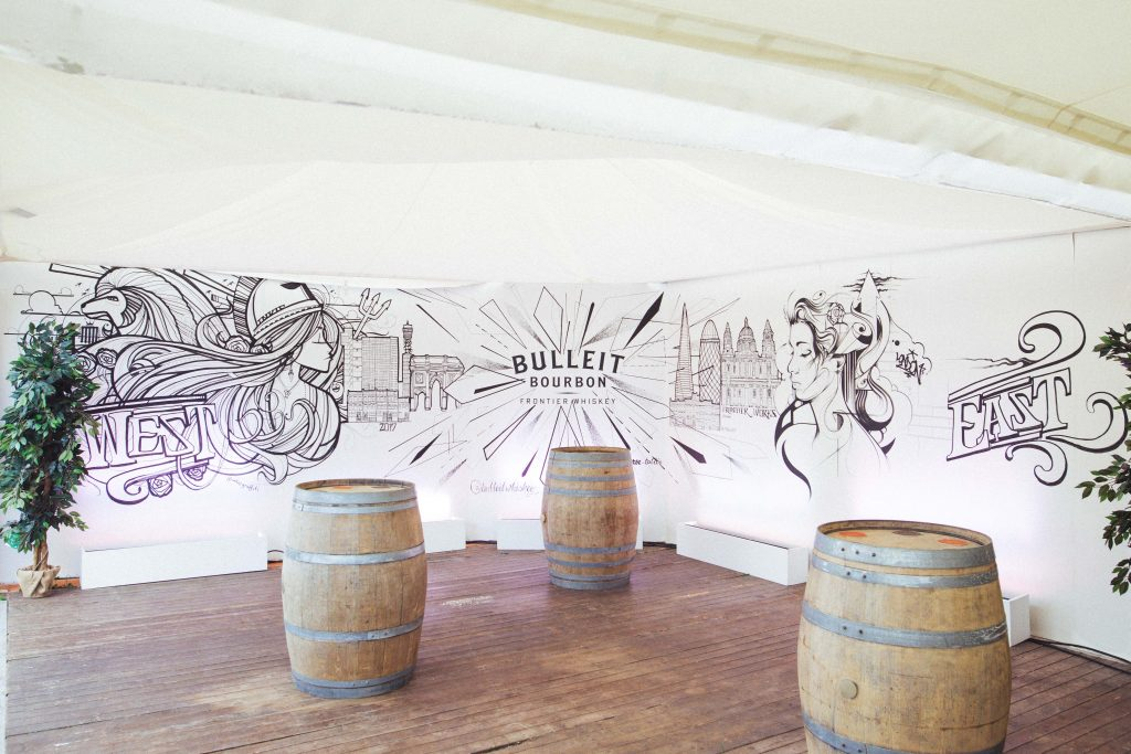 Video: Bulleit Whiskey Live Mural at London Food Month Night Market