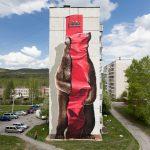 """""""Baring machine"""" murals by NEVERCREW in Satka, Russia"""