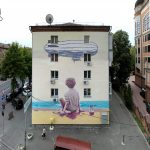"""The Boy & The Sea"" by Rustam Qbic in Kiev, Ukraine"