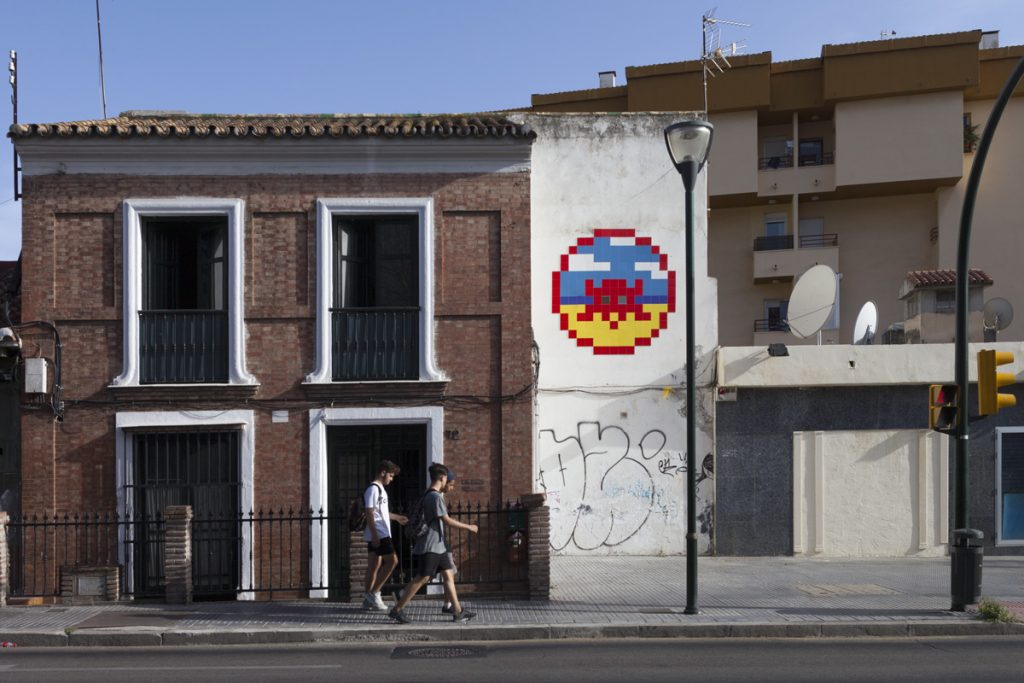 Invader in Malaga, Spain