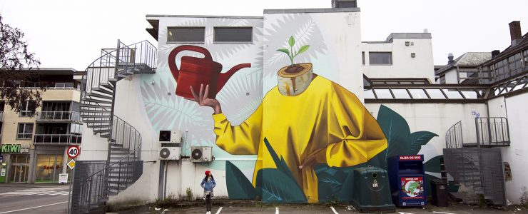 """Never Give Up"" by Artez in Sandefjord, Norway"