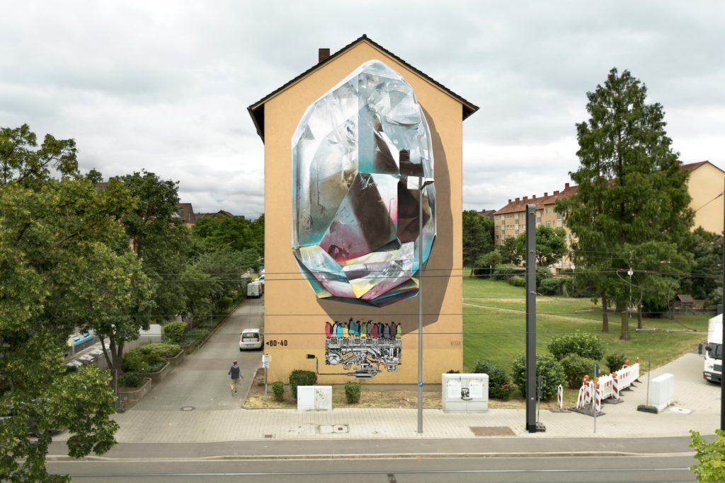 """Propagating machine"" by NEVERCREW in Mannheim, Germany"