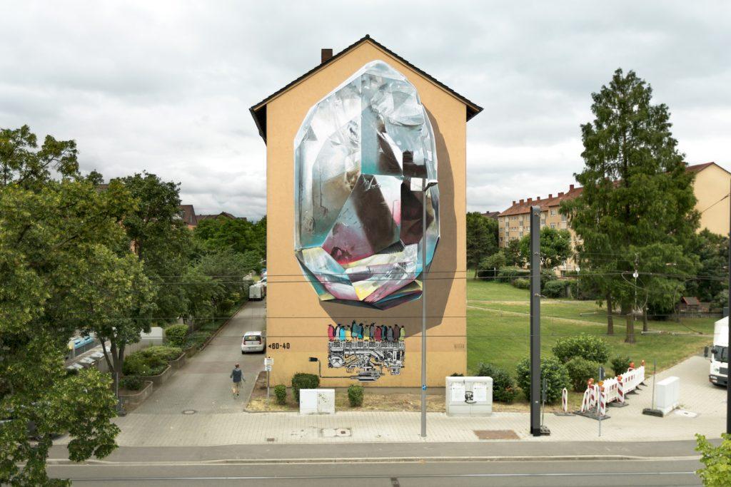 """Propagating machine"" by NEVERCREW in Mannheim, Germany"