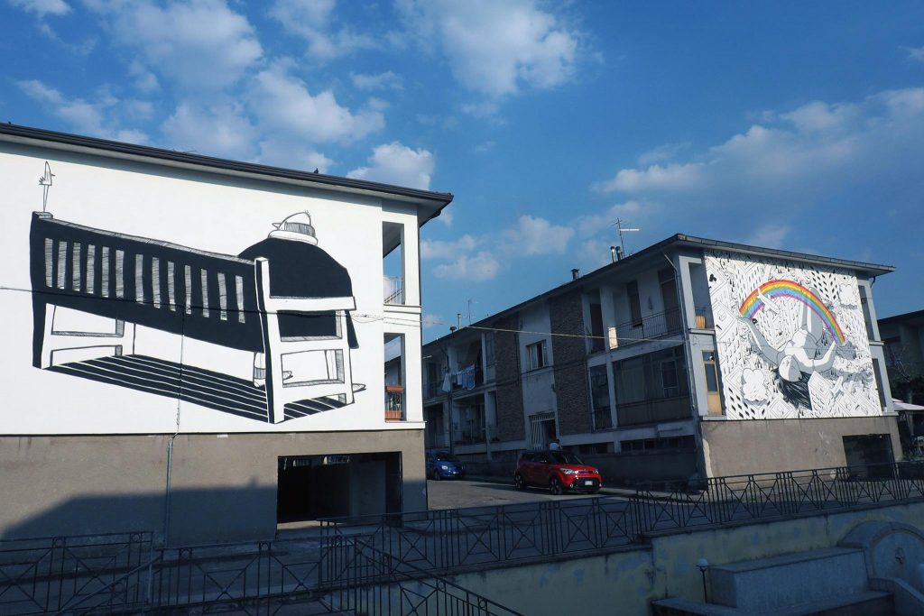 Alex Senna creates three new murals in Bonito, Italy