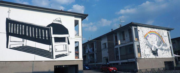 Alex Senna creates three new murals in Bonito, Italy