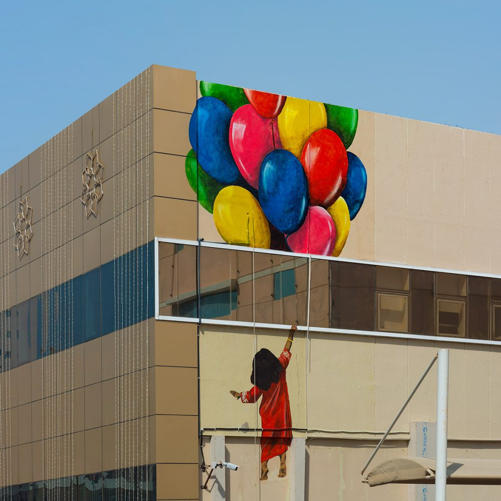 Fatma Al Ali for Ajman Murals in UAE
