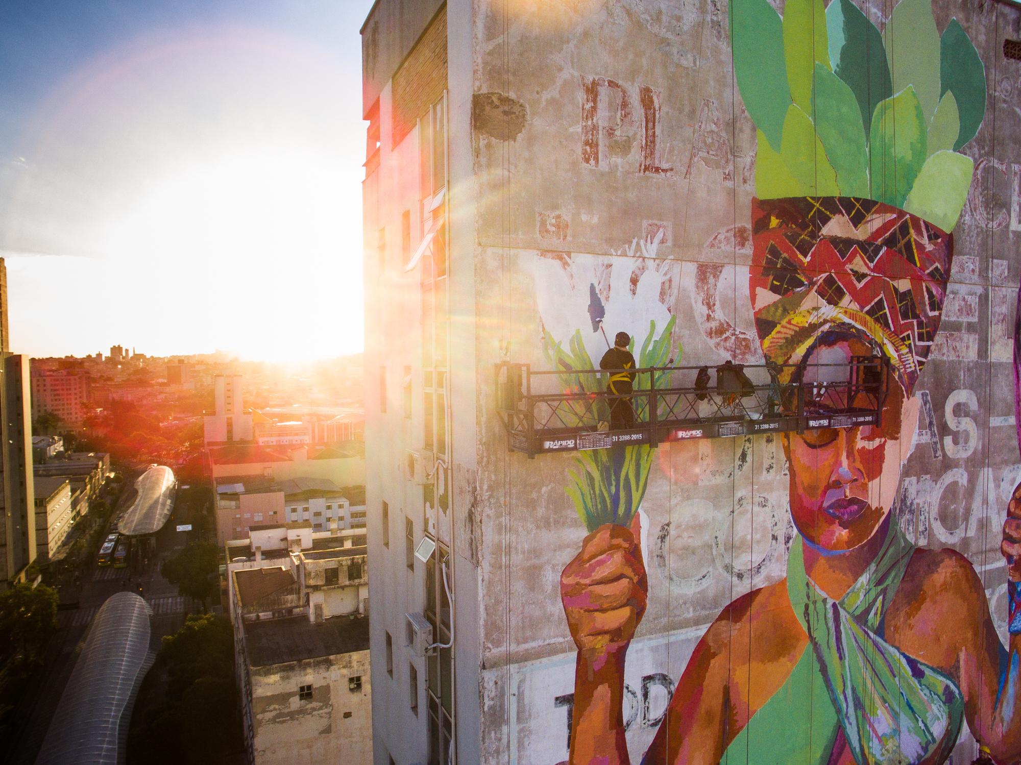 First mural festival in belo horizonte cura the dallas for Mural festival