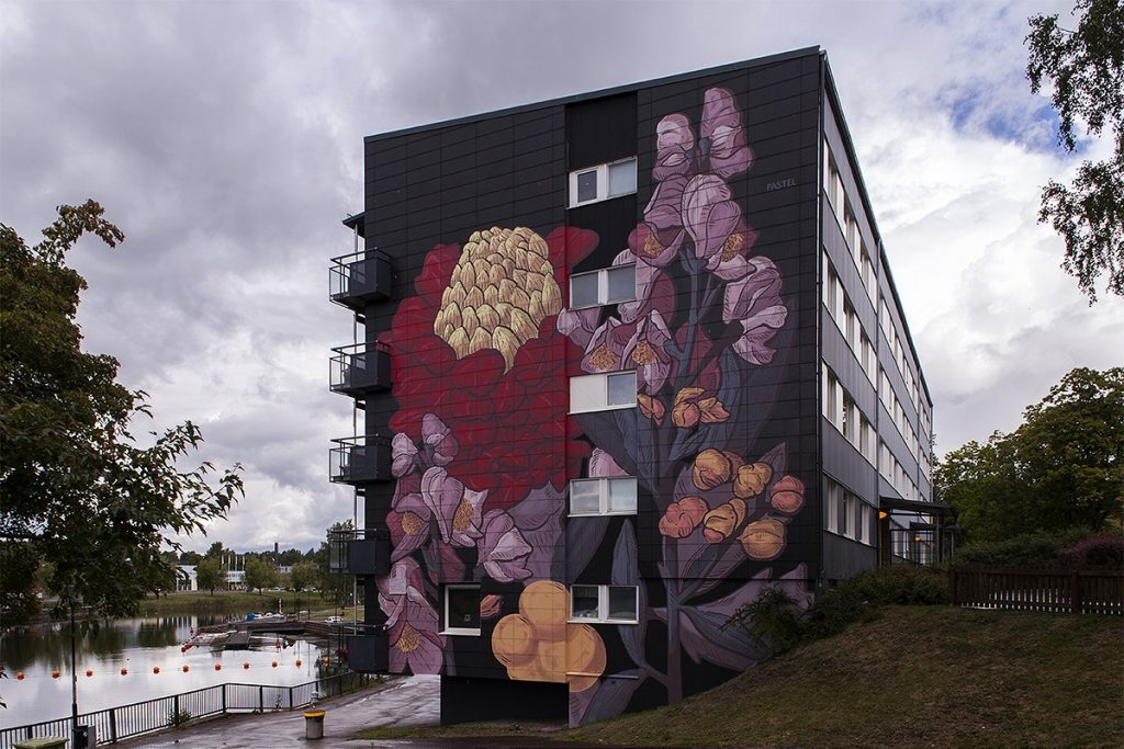 Pastel New Mural in Säffle, Sweden