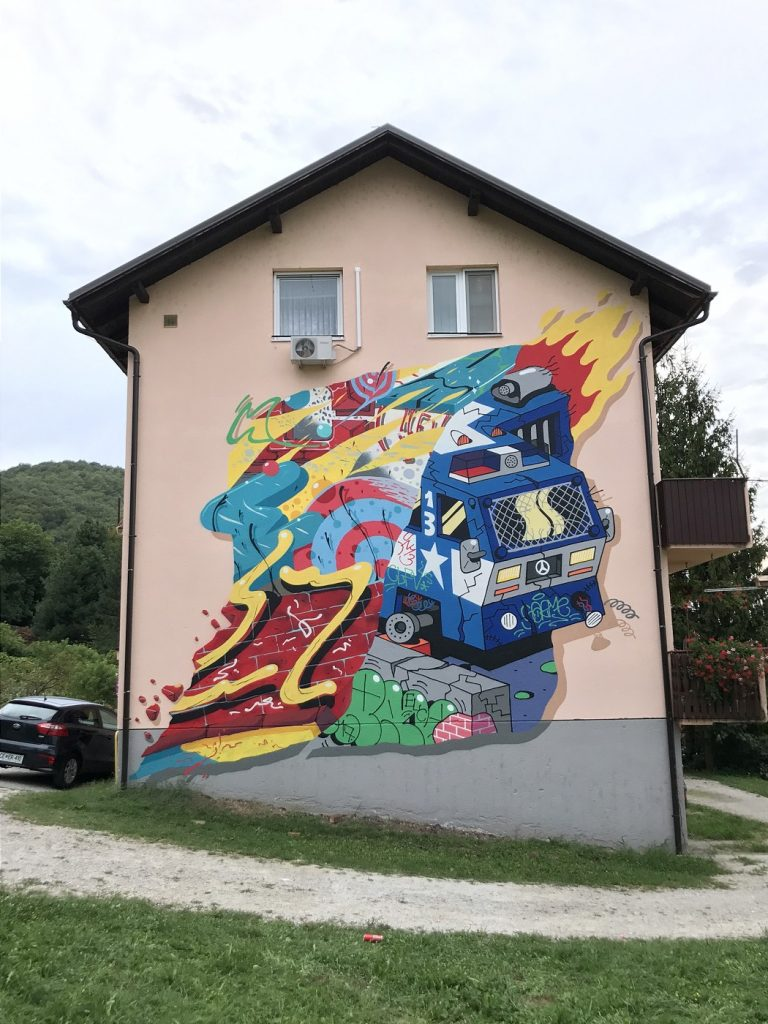New Mural by Chez 186 & Sarme in Hum na Sutli, Croatia