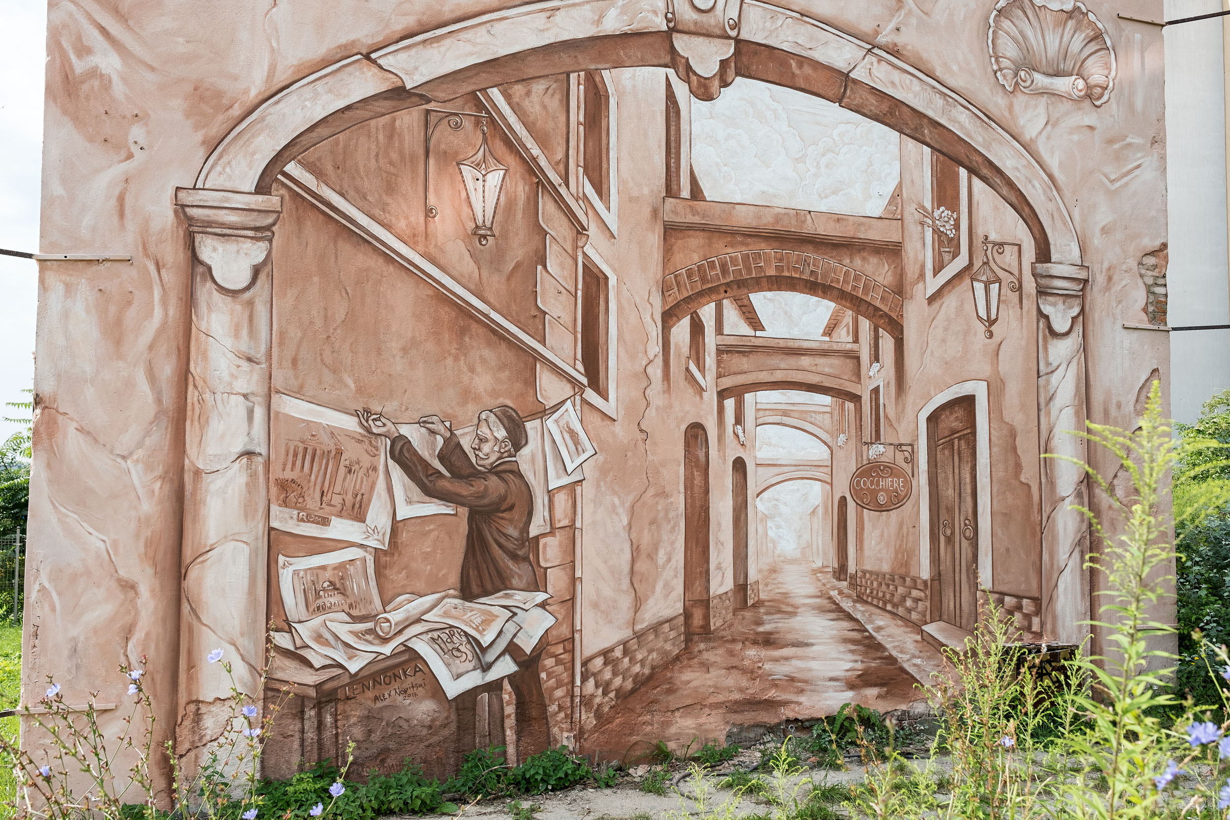 """Neighbors"" by Mark Maksimovich and Alex Novitski in Poznan, Poland Artes & contextos 010"