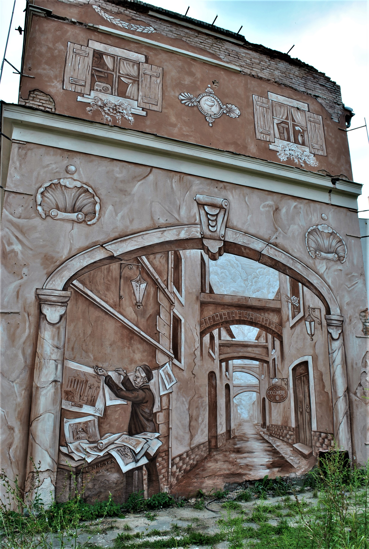 """Neighbors"" by Mark Maksimovich and Alex Novitski in Poznan, Poland Artes & contextos sciana1"