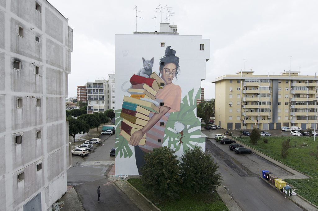 """Bookworm"" by Artez in Lecce, Italy"