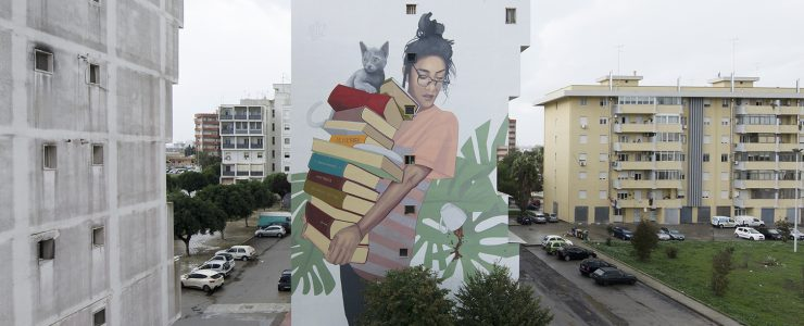 """""""Bookworm"""" by Artez in Lecce, Italy"""