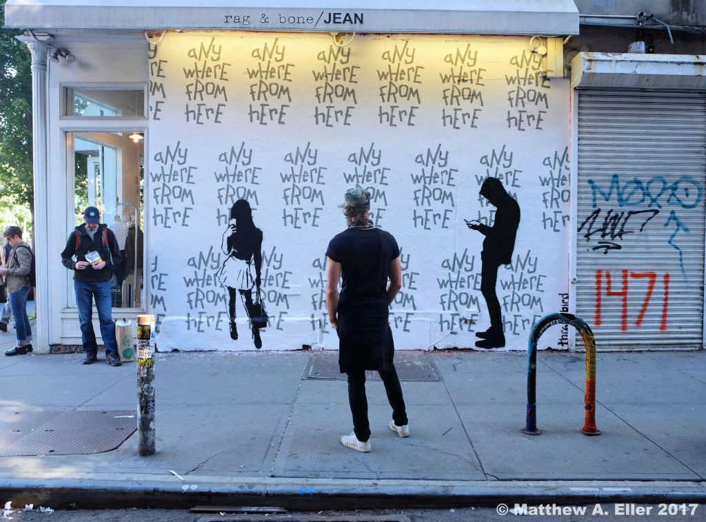 "New Thrashbird Mural ""Any Where From Here"" @ Rag & Bone, NYC"