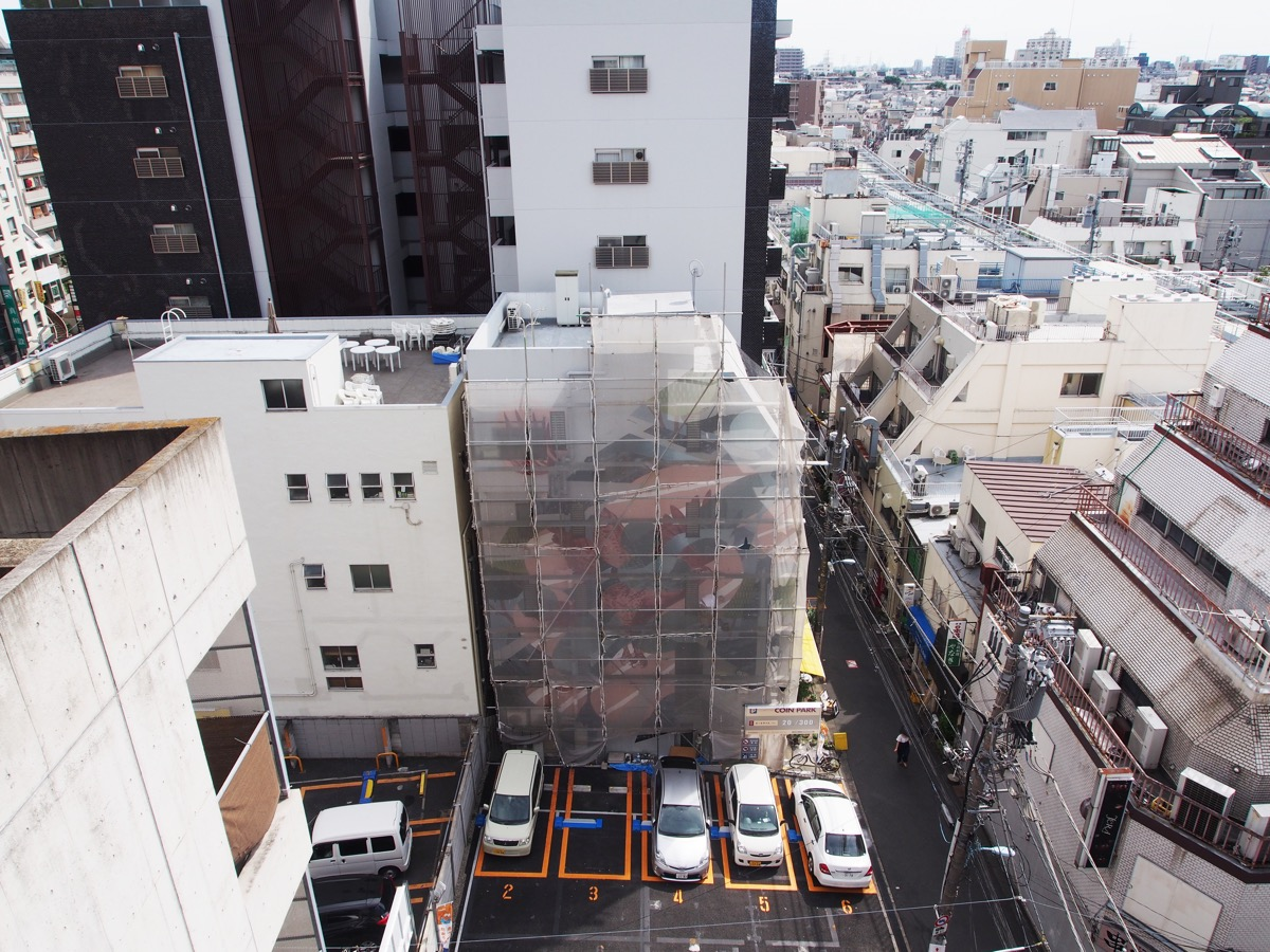 Sync by whole9 in tokyo for the mural city project the for City mural projects