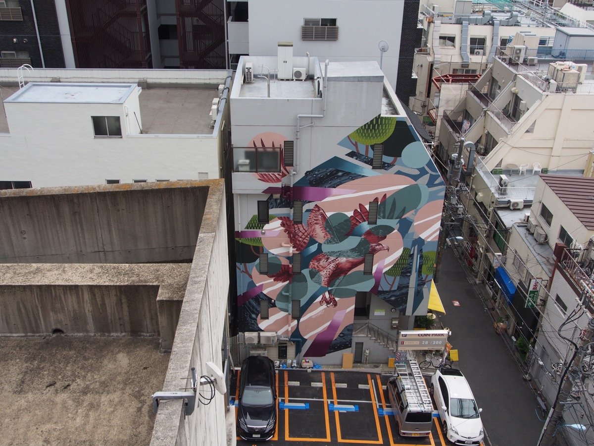 Sync by whole9 in tokyo for the mural city project for City mural projects