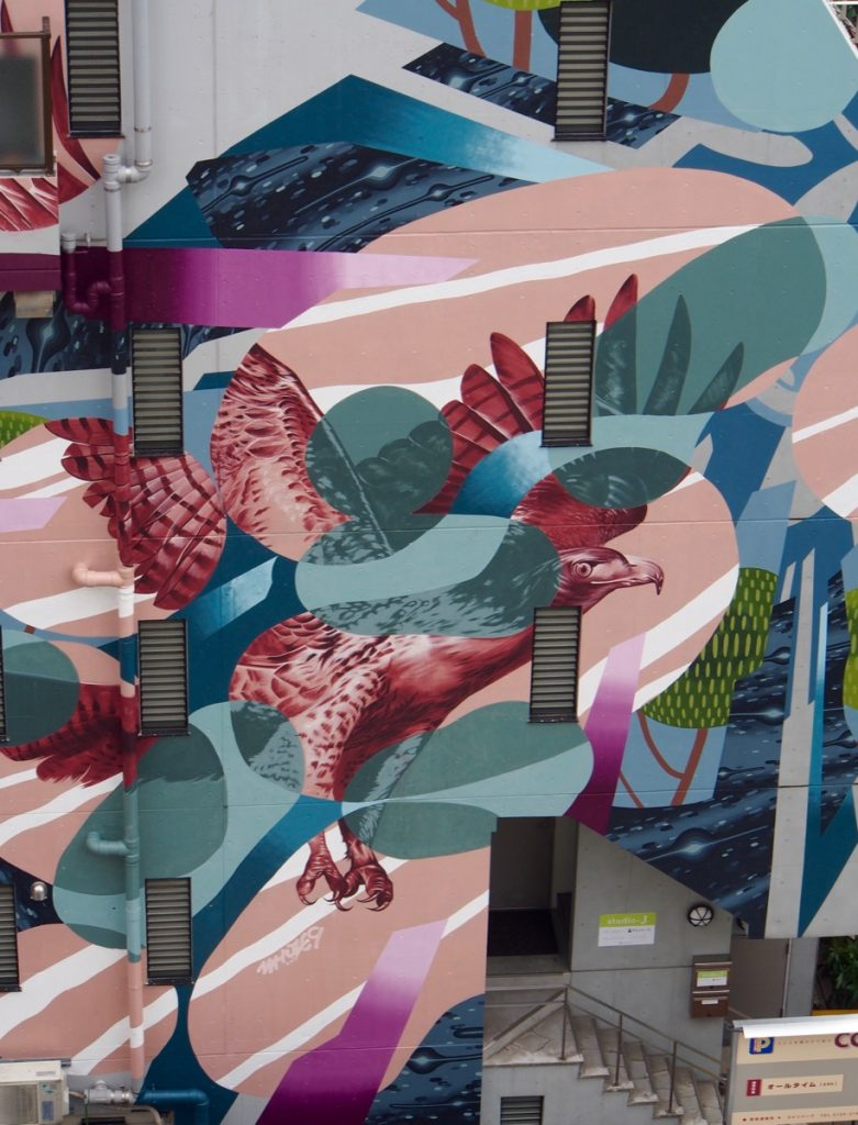 """Sync"" by WHOLE9 in Tokyo for The Mural City Project"